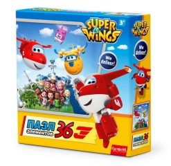Пазл SuperWings «Целый мир», 36 элементов